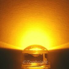 30 PCs 1W 8mm 140° StrawHat ORANGE LED 180,000mcd@300mA