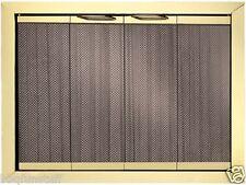 """Portland Trim Fyre Glass Fireplace Doors Polished Brass Finish 44"""" x 25"""" New"""