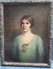 Nice female portrait oil on canvas signed by Paolo Troubetzkoy