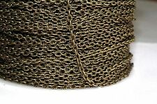 15ft 3x2mm Antique Brass Cable Chain-unsoldered 1-3 day Shipping