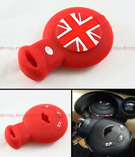 RED UNION JACK SILICONE PROTECTIVE CASE COVER FOR MINI COOPER SMART CAR KEY FOB