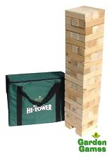 MEGA HI TOWER WOODEN GARDEN JENGA GAME BUILDS TO 2.3M & CARRY BAG
