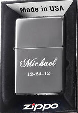 Zippo Custom Lighter Free Engraving Personalized Black Ice 150 Pocket New