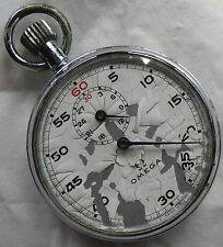 Omega Stop Watch Open Face Nickel Chromiun Case 51 mm. in diameter cal. 9000