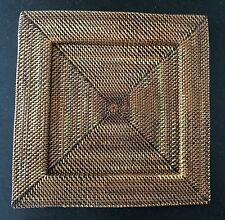 Square woven rattan placemat charger plate holder 13 inches