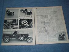 "1924 MG 14/28 Vintage Info Article ""Driving Impressions of the First Production"