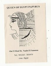 QUEEN OF EGYPT PAPYRUS Giza Egypt ORDER CARD Egyptian AFRICAN Pyramids Samman