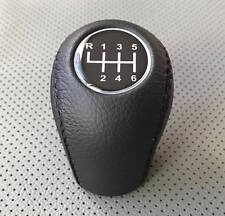 GEAR STICK SHIFT KNOB FOR PEUGEOT 4007  GENUINE LEATHER!!! BLACK 6 speed