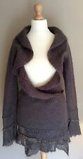 FAT FACE BROWN CARDIGAN WRAP SIZE 8 WOOL MOHAIR