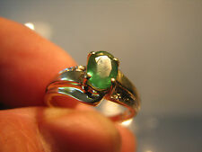 Beautiful 14k gold emerald ring 3.5 gram uk size N