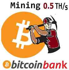 BITCOIN MINING 0.5TH/s 6-Month Contract 0.075 BTC Digital-Coin Crypto-Currency