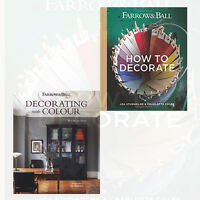 Farrow & Ball 2 Books Collection Set (How to Decorate, Decorating with Colour)