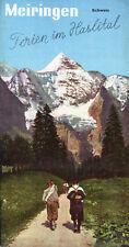 Prospectus-Tourisme : MEIRINGEN, Suisse. Travel Ephemera