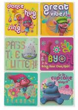 "18 Trolls Movie Stickers, Assorted 2.5""x2.5"" each, Party Favors"