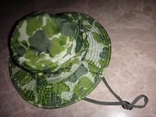 Vietnam War Original US Army SPECIAL FORCES Camo Boonie Hat With Chinstrap