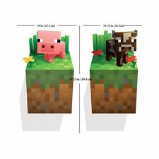 Minecraft Vinyl Wall Sticker 3D decal home decor Pig & Cow Bedroom Wallpaper