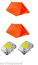 2 Shelter Tube Tents & 2 Emergency Survival Sleeping Bag Waterproof Emergency