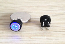 1pc Blue Led Dia 10mm Cap 12V Momentary Tact Push Power Button Switch SB