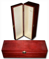 Lacquered Wooden Wine Box/ Gift Box/ Wine Storage Case with Hinges 1 bottle