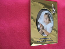 BOYS OR GIRLS FIRST HOLY COMMUNION GOLD PLATED PICTURE FRAME