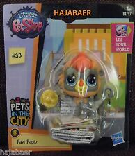 ☆ Littlest Pet Shop ☆ AFFE PAVIAN  #33 ☆ PAVI PAPLO ☆ PETS IN THE CITY RAR NEU