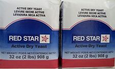 2pk Red Star Active Dry Yeast 32 oz ( 2 lbs) Each