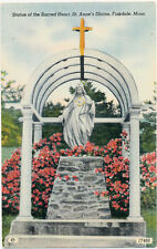 FISKDALE MA – St. Anne's Shrine Statue of the Sacred Heart