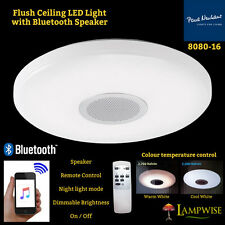 8080-16 Flush Ceiling LED Light Bluetooth Speaker Remote Control Brightness