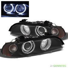 For 97-03 E39 5-Series Black Halo Projector Headlights Front Lamps Replacement