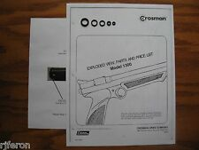 Crosman 1300 Reseal Seal Repair Kit With Exploded View - Parts List & Guide