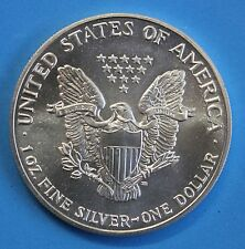 1989 1ONZA ONE DOLLAR USA ESTADOS UNIDOS AMERICA LIBERTY EACLE  PLATA SILBER