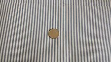100% Cotton Fabric – Smoke Blue & White Crinkle Stripe BTY – #852