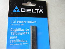 """Delta 13"""" portable planer knives, 22-549 2 knife set for the 22-580 and others"""