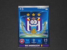 ECUSSON BADGE ANDERLECHT UEFA PANINI FOOTBALL CARD CHAMPIONS LEAGUE 2014 2015