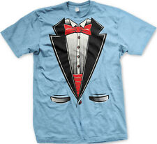 Tuxedo Formal Classy But Casual Red Bow Tie Dress Shirt Mens T-shirt