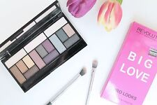 MAKEUP REVOLUTION BIG LOVE EYESHADOW PALETTE 3 DIFFERENT LOOKS IN 1 PURPLE SMOKY