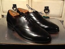 VTG BOSTONIAN OXFORD WINGTIP BLACK PATENT LEATHER.MADE IN USA. Sz 9 D/B