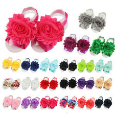 10pcs Cute Baby Girl's Kids Flowers Design Foot Band Ties Barefoot Sandals Shoes