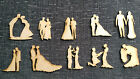 Wooden MDF Wedding Figures Embellishments Craft Cards Table Decorations..