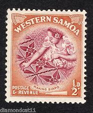 1952 Western Samoa 0.5d Making Siapo Cloth SG 219 Mounted Mint R15820