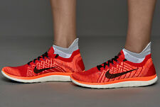 NIKE FREE 4.0 FLYKNIT Running Trainers Shoes - UK Size 7 (EUR 41) RRP £120 - Red