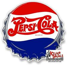 "(PC-209) 12"" PEPSI CAP COOLER POP SODA MACHINE DECAL"