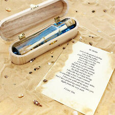 Personalised MESSAGE IN A BOTTLE Romantic Love Wedding Memorial Gift Box