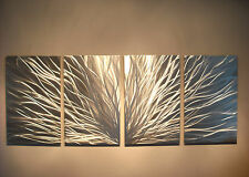 Abstract Metal Wall Art- Contemporary Modern Decor Original Radiance in Silver