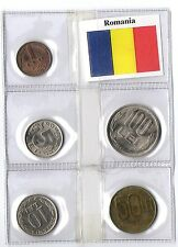 ROMANIA SET 5 MONETE FIOR DI CONIO LEI BANDIERA 5 UNC COINS FLAG REGALO