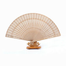 Lady Girl Chinese Style Hollow Wooden Folding Bamboo Carved Hand Fan Gift