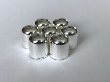 100 pcs Silver Plated Jewelry Findings Leather Barrel Cord Ends Crimp Caps Bead