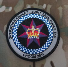 CHOGM 2011 - Operation AMULET JTF644 Patch / NEW Excellent quality