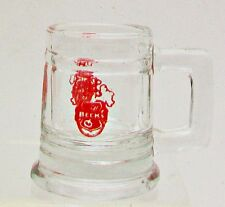 BECK Shot Glass Mini Stein Beer Advertising Barware Collectible Red Logo