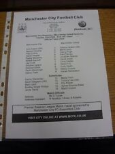 23/03/2004 Manchester City Reserves v Manchester United Reserves  (single sheet)